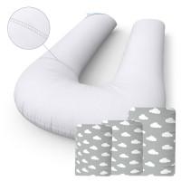 """Комплект подушка """"Трансформер"""" + 3 Наволочки Cloud Grey"""